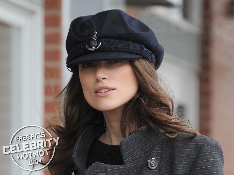 Keira Knightley Almost Can't See Out Of Her Chanel Sailor Cap!