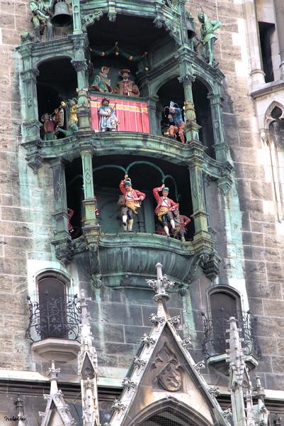 Rathaus-Glockenspiel in Marienplatz Munich, 04/04/2019 Lower tier dancing This work is licensed under a Creative Commons Attribution- NonCommercial 4.0 International License