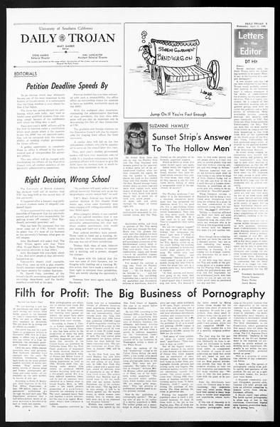 Daily Trojan, Vol. 57, No. 100, April 13, 1966