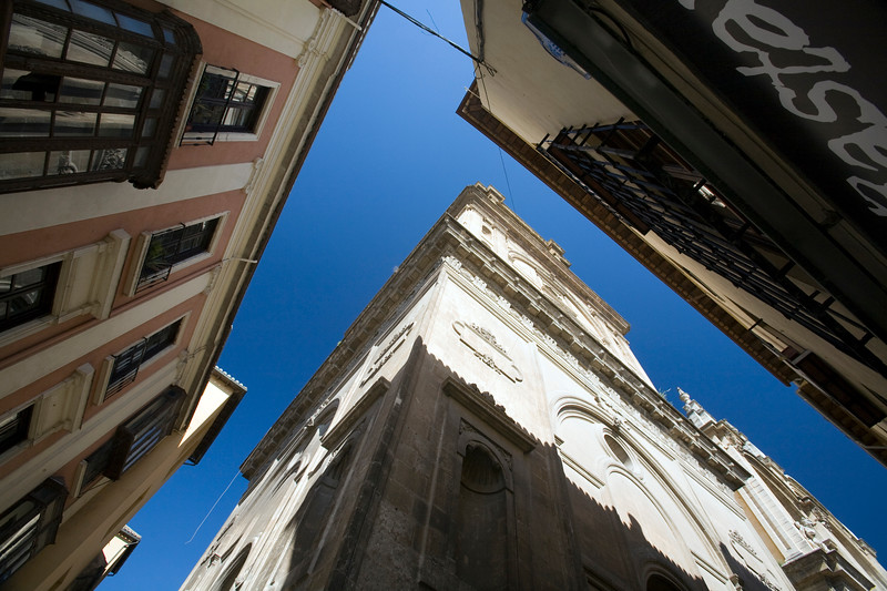 Low angle view of the Cathedral of Granada, Spain
