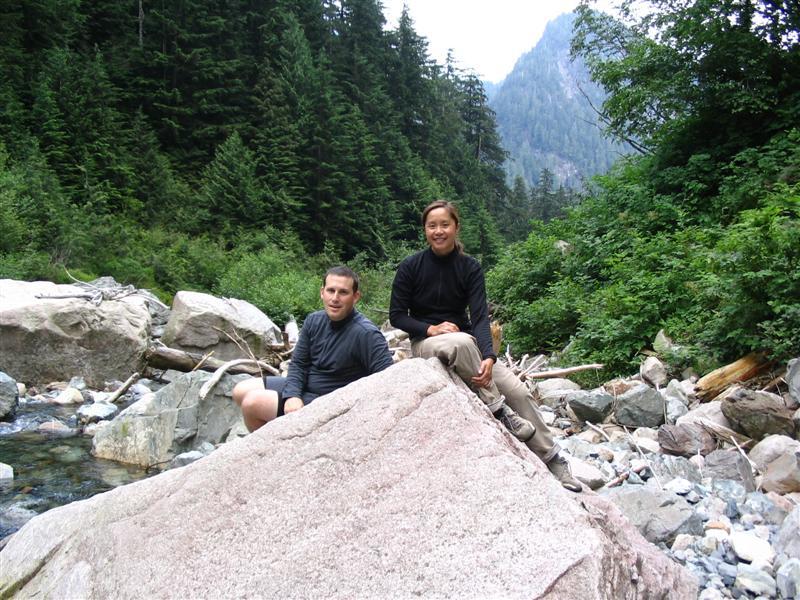 Scott & Donna hiking the Lynn Valley
