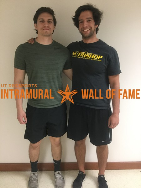 Spring 2018 Racquetball Men's B Doubles Champion