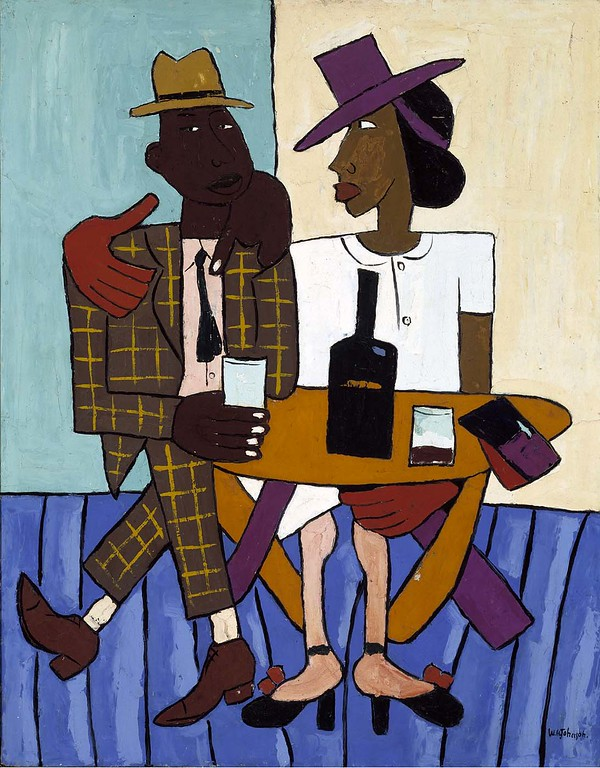"William H. Johnson, ""Cafe"" (1939-40)"