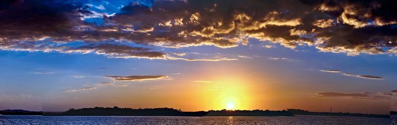Cumulonimbus cloudy coastal Sunset Seascape. Australia