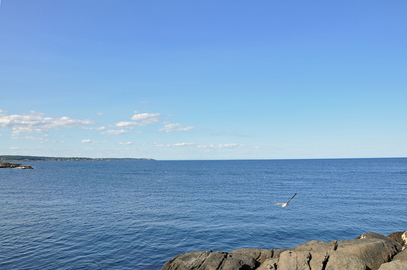 The ocean horizon is a favorite view of mine.  This one is from Nubble Lighthouse.