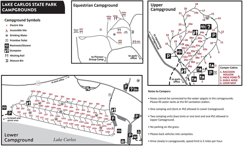 Lake Carlos State Park (Campground Maps)