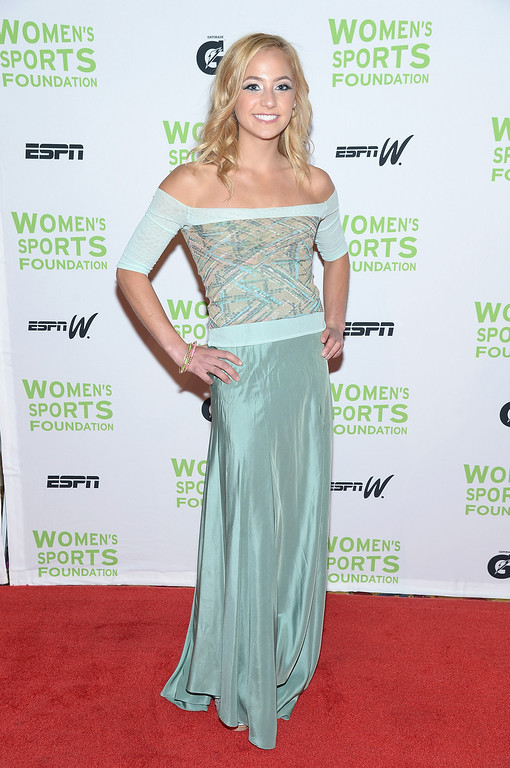 . NEW YORK, NY - OCTOBER 16:  U.S. national climbing champion Sasha DiGiulian attends the 34th annual Salute to Women In Sports Awards at Cipriani, Wall Street on October 16, 2013 in New York City.  (Photo by Michael Loccisano/Getty Images for the Women\'s Sports Foundation)