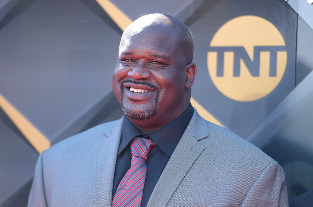 . Shaquille O\'Neal arrives at the NBA Awards on Monday, June 25, 2018, at the Barker Hangar in Santa Monica, Calif. (Photo by Richard Shotwell/Invision/AP)
