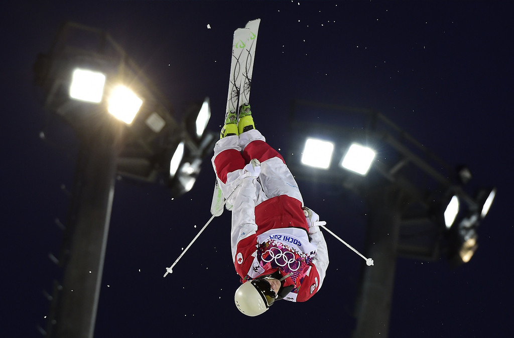 . Canada\'s Marc-Antoine Gagnon competes in the Men\'s Freestyle Skiing Moguls qualifications at the Rosa Khutor Extreme Park during the Sochi Winter Olympics on February 10, 2014.      AFP PHOTO / JAVIER SORIANO/AFP/Getty Images