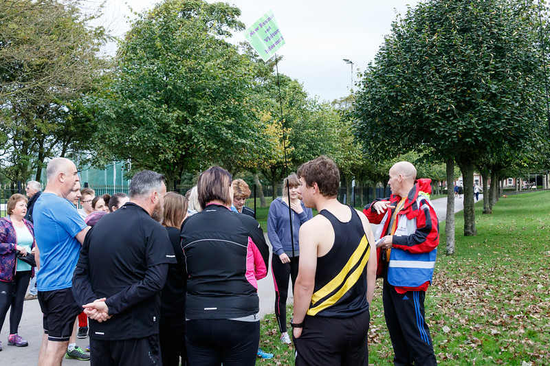 Participants and volunteers in the 31st Blackpool parkrun.