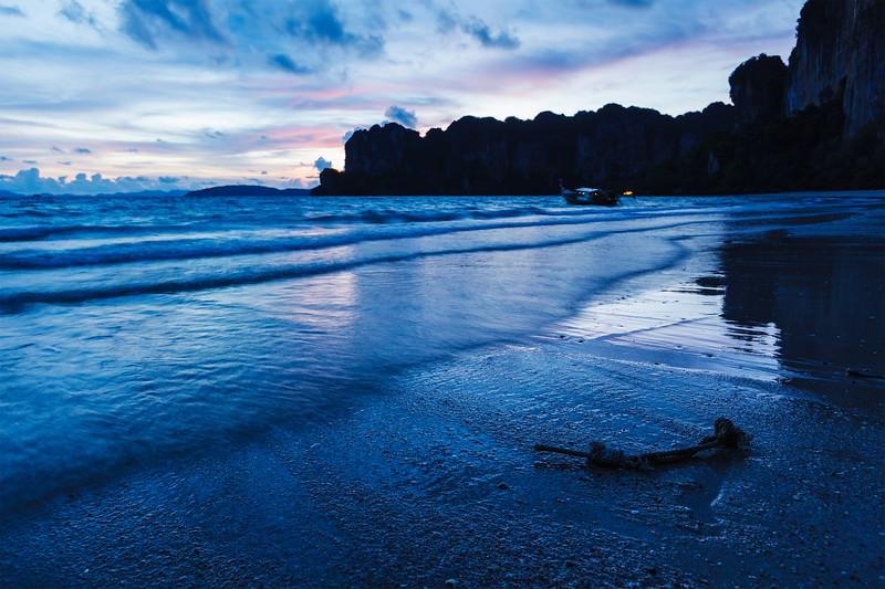 Sunset on Railay beach. Railay , Krabi Province Thailand