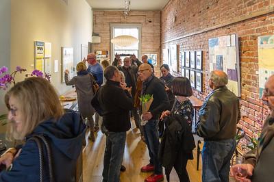 Janet's art opening at Bump Wine Cellars