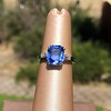 Vintage-Inspired and Contemporary 3.03ct Blue Sapphire Ring (GIA, No-Heat)) 7