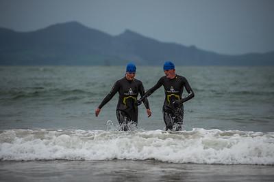 Superfeet Sandman Triathlon - Swim Exit Blue Hats