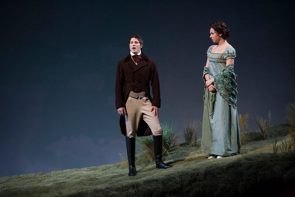 """. Nick Verina and Stephanie Rothenberg in the Denver Center Theatre Company\'s world premiere of \""""Sense & Sensibility The Musical.\""""   Photo by Jennifer M. Koskinen"""