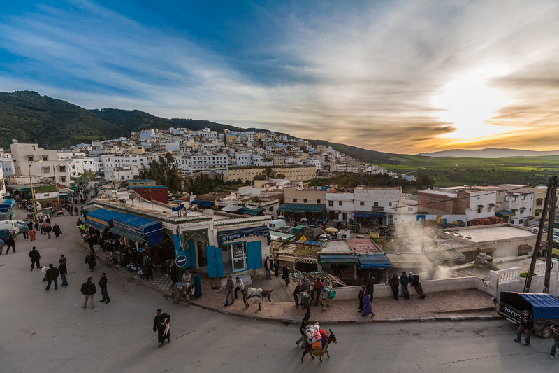 People walking in town - Morocco