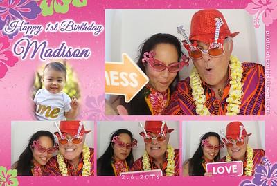 Madison's 1st Birthday (Luxury Photo Booth)