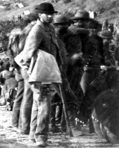 Confederate Pows in punch bowl