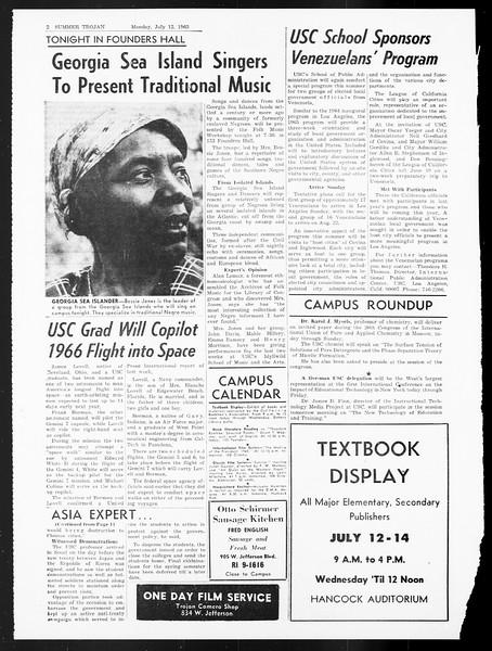 Summer Trojan, Vol. 15, No. 6, July 12, 1965