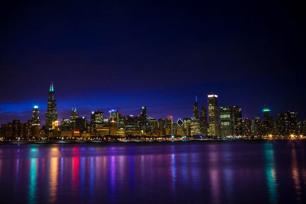 Chicago Skyline St. Pattys Day