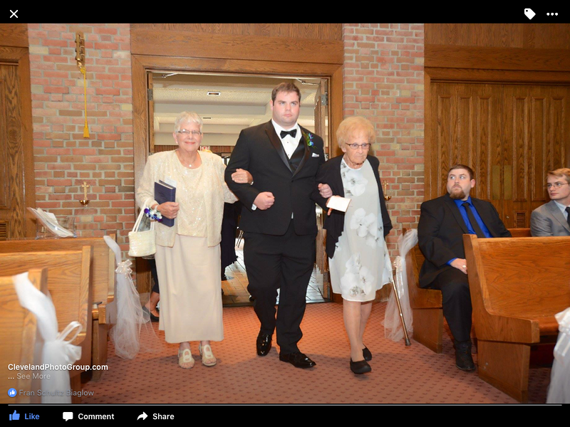 Escorted down the aisle by John Robert July 7, 2017