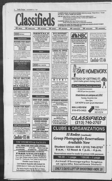 Daily Trojan, Vol. 132, No. 61, November 24, 1997