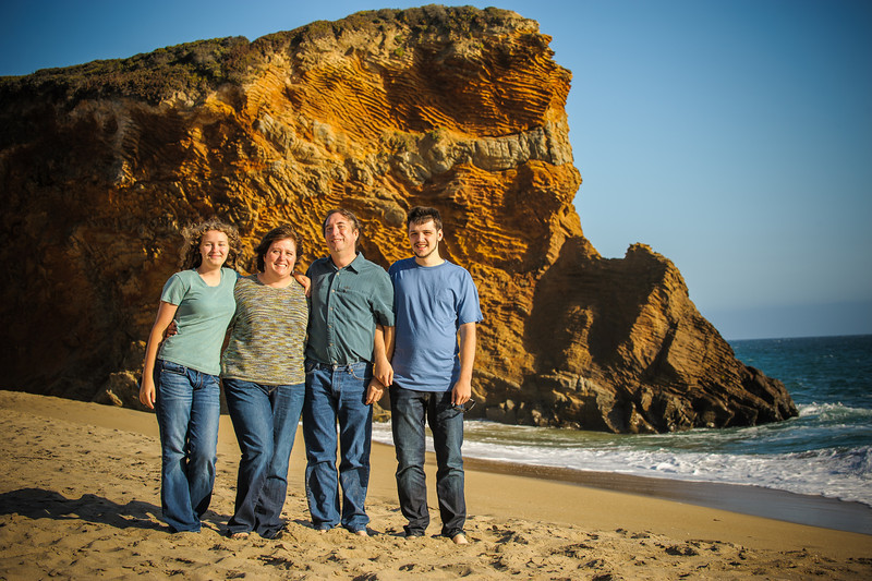 Denise + Ted = Aaron > Meg (Family Photography, Capitola and Panther Beach, Califorina)