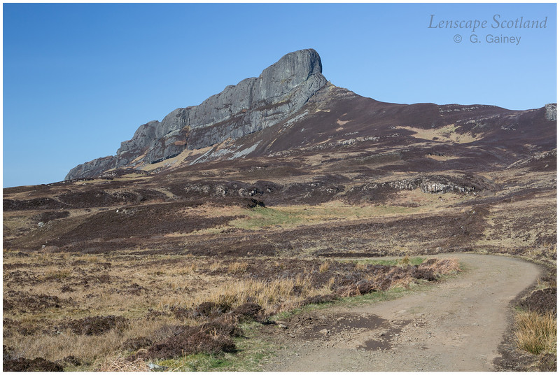 An Sgurr from the track to Grulin