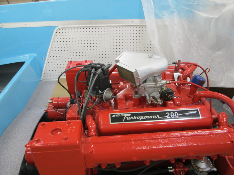 Starboard engine view with new style flame arrester.