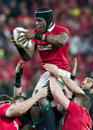Maro Itoje during game 9 of the British and Irish Lions 2017 Tour of New Zealand, the second Test match between  The All Blacks and British and Irish Lions, Westpac Stadium, Wellington, Saturday 1st July 2017 (Photo by Kevin Booth Steve Haag Sports)  Images for social media must have consent from Steve Haag