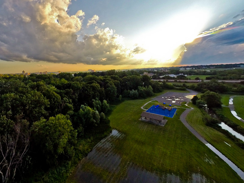 Summer Sunset at the Park 19 : Aerial Photography from Project Aerospace