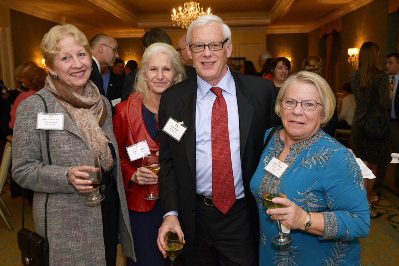 NEHGS Councilors Gerry Halpin and Brenda Williams with Anne Van Nostrand and guest