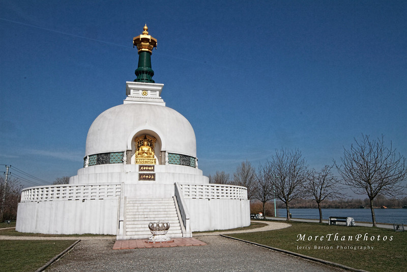 District 2 The Peace Pagoda on the right bank of the Danube.  A Buddhist Supa, constructed 1982-83.