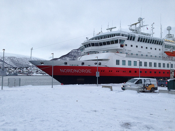 MS Nordnorge in port in Tromsø.