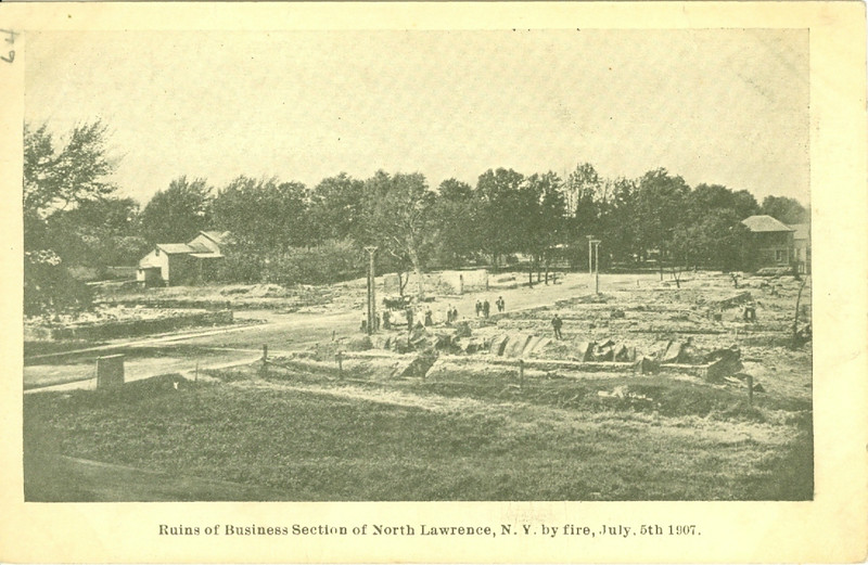 NORTH LAWRENCE NY  FIRE 1907