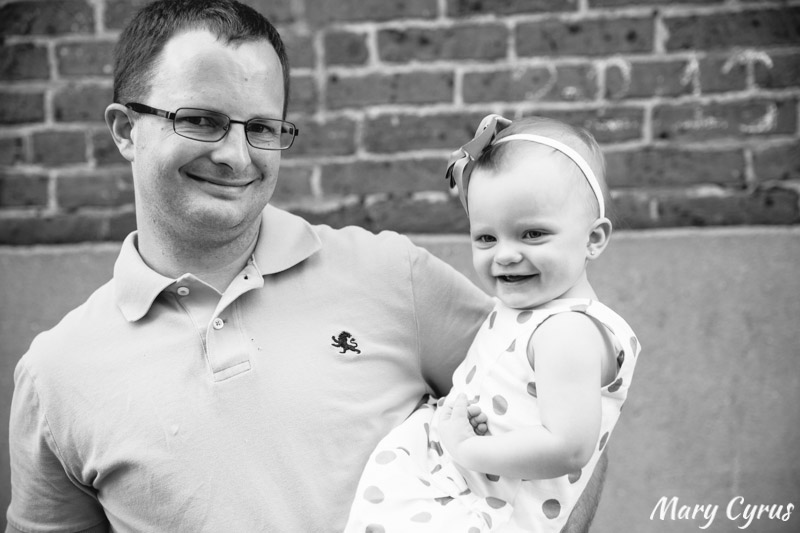 18-Month-Old Lorelai & her Dad in Downtown McKinney, Texas. Photo by Mary Cyrus - Portraits & Weddings in Dallas & Beyond.