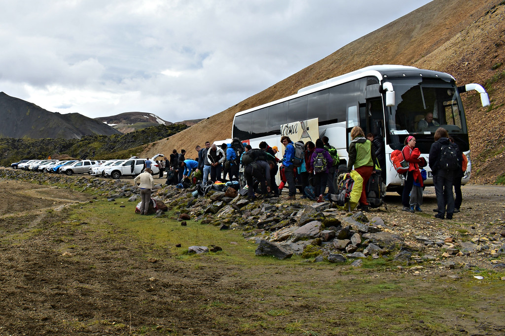 Example of coach buses similar to airport transfer vehicles that travel between Reykjavik and Keflavik International Airport