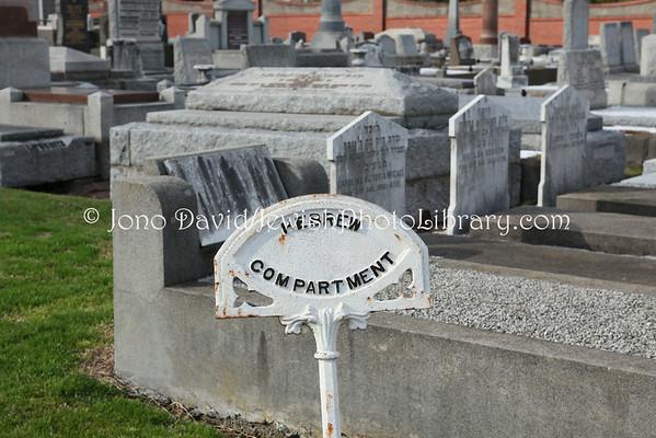 AUSTRALIA, Victoria, Melbourne. Jewish sector, Brighton General Cemetery. (8.2010)
