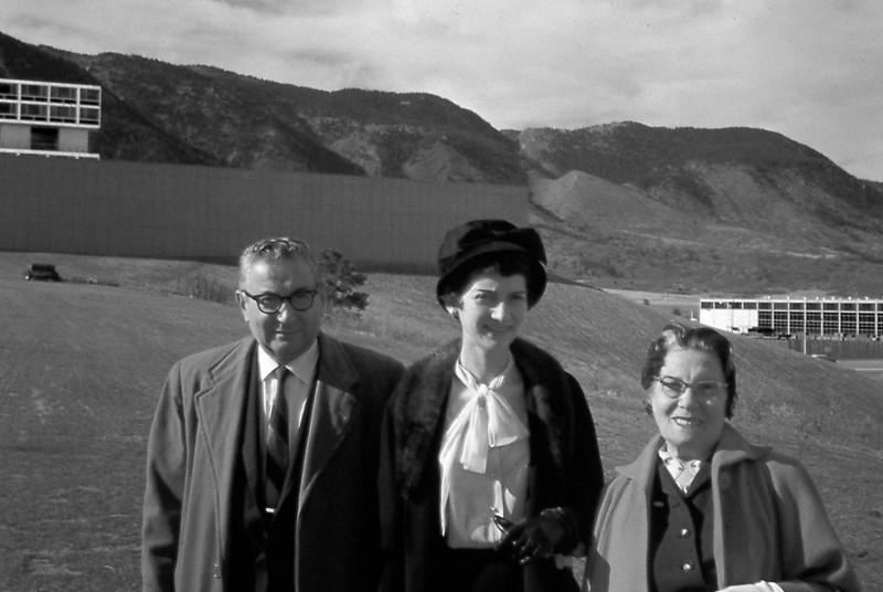 Marcus, Marian, Esther, USAFA Nov 1958