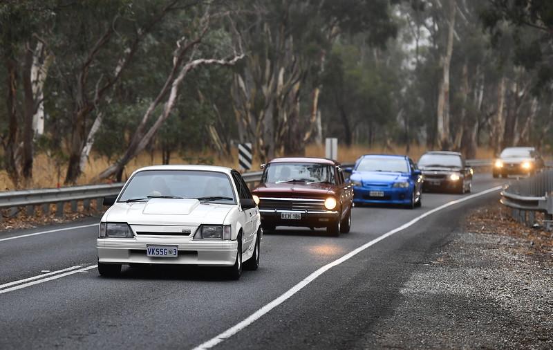 Holden Car cruise  Birdwood to The Bend