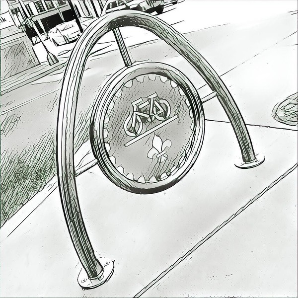 Like Austin, St. Louis gets culturally relevant and creative with its bike stands.