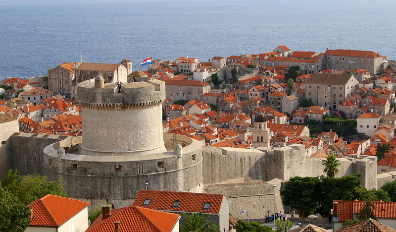 The highest point of Dubrovnik's defensive walls, Minčeta Tower dates back to the 1400s