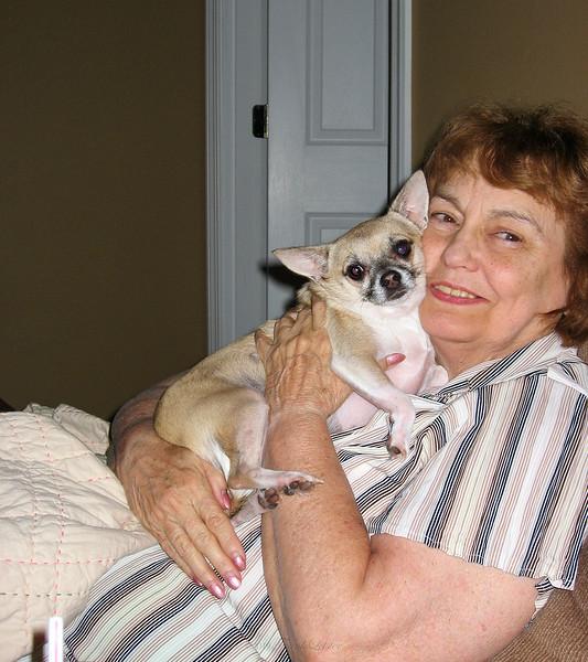 Shirley Lebin with doggie, in Greensburg PA.