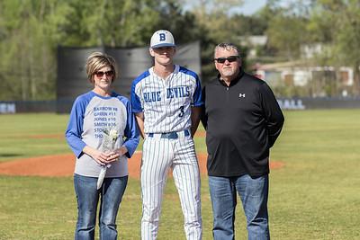 2018 Varsity Baseball Senior Night With Parents
