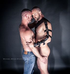 Nathan & Todd in Leather