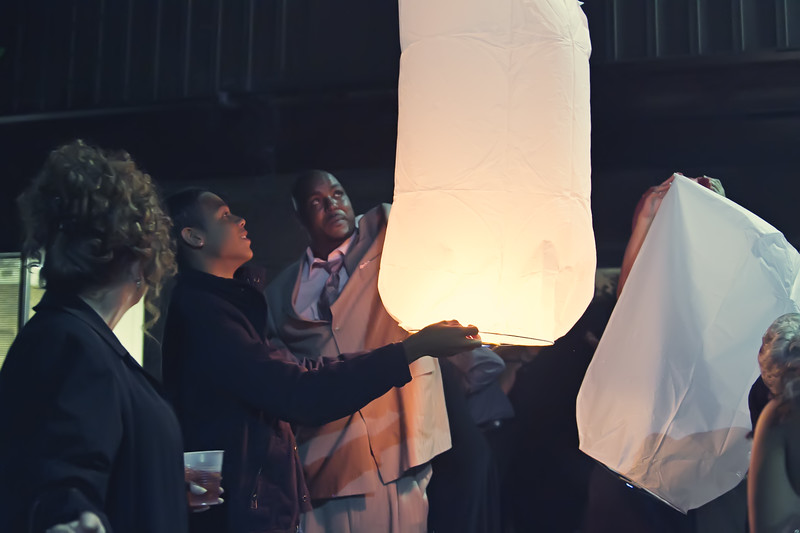 Floating Lanterns at Wedding