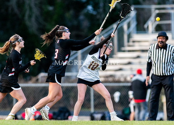Broughton girls varsity lacrosse vs Middle Creek. February 28, 2020. D4S_0695