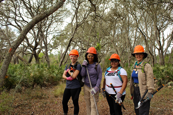 Girls Who Hike FL Work Party in Green Swamp West_March 2019