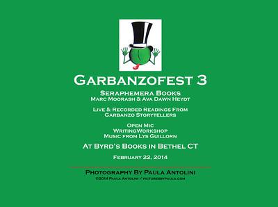 GARBANZO 3 ~ Seraphemera Books ~ Marc Moorash ~ Ava Dawn Heydt ~ Byrd's Books ~ Bethel, CT ~ February 22, 2014