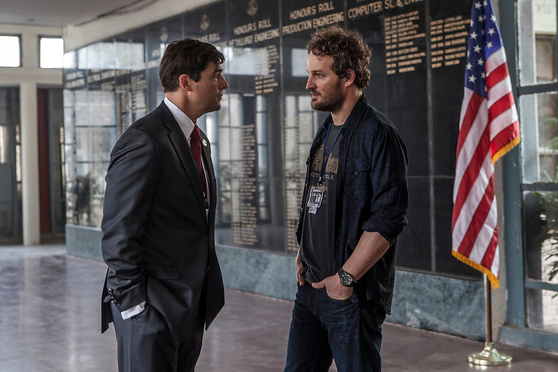 """. Kyle Chandler (left) and Jason Clarke portray CIA operatives working to capture Osama bin Laden in \""""Zero Dark Thirty.\"""" Provided by Columbia Pictures"""